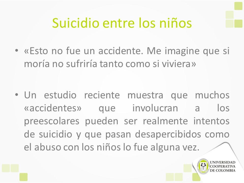 Suicidio entre los niños