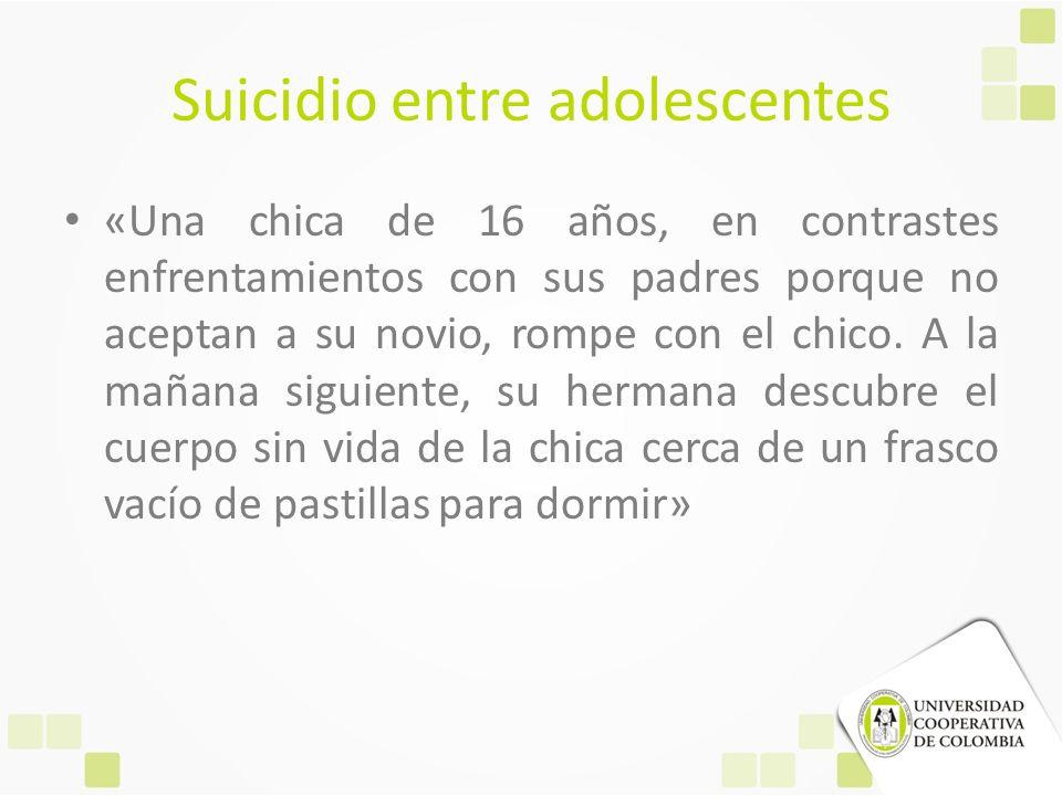 Suicidio entre adolescentes