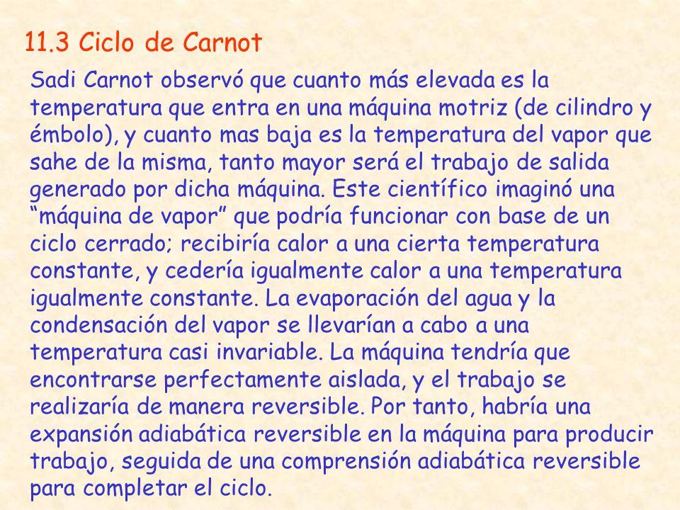 11.3 Ciclo de Carnot