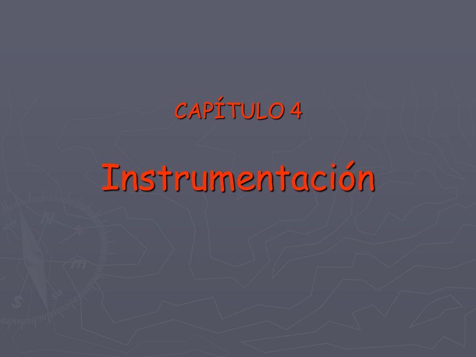 CAPÍTULO 4 Instrumentación