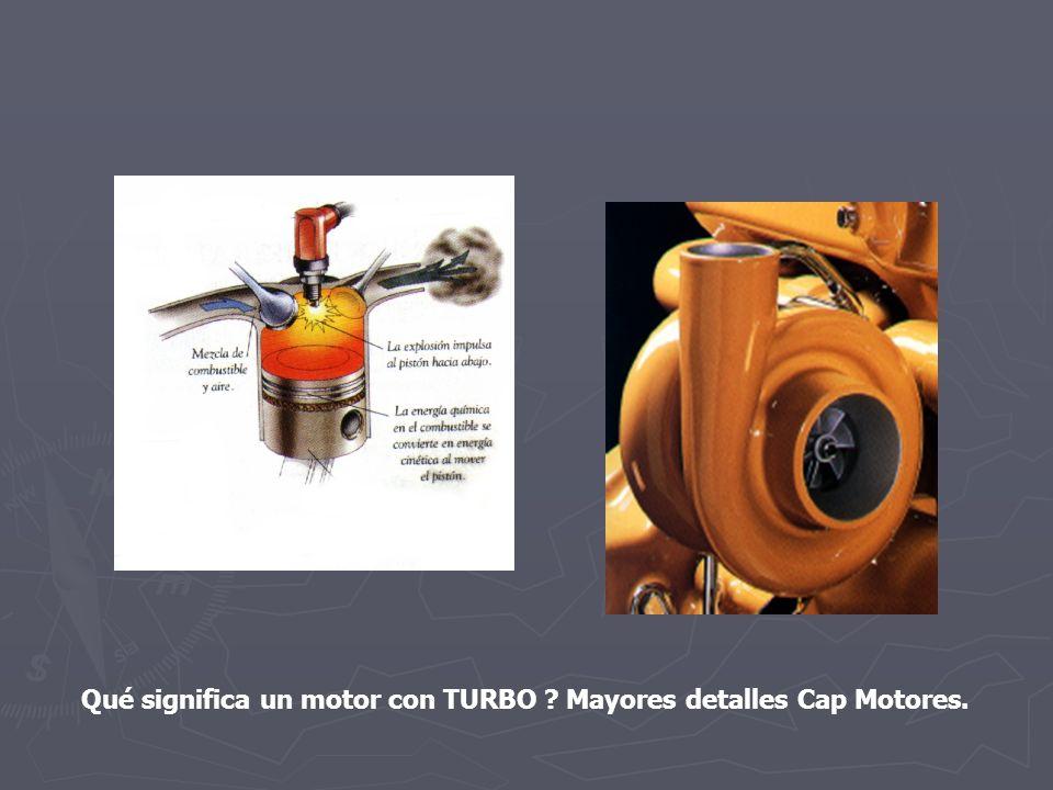 Qué significa un motor con TURBO Mayores detalles Cap Motores.