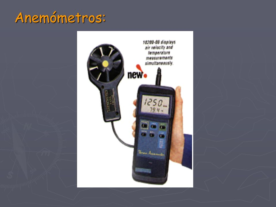 Anemómetros: