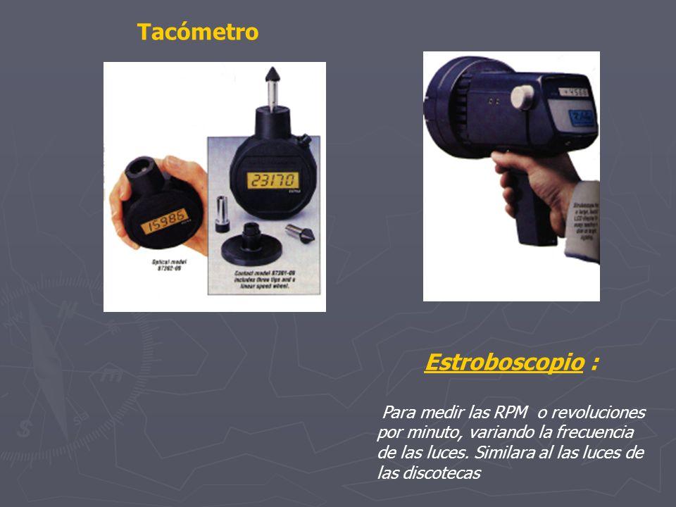 Tacómetro Estroboscopio :