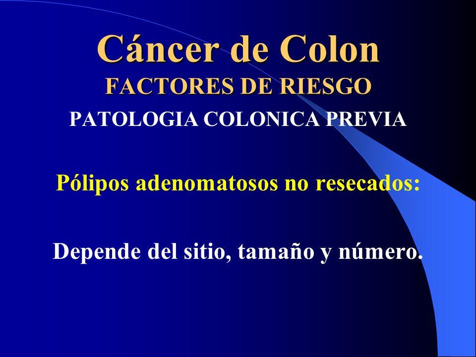 Cáncer de Colon FACTORES DE RIESGO