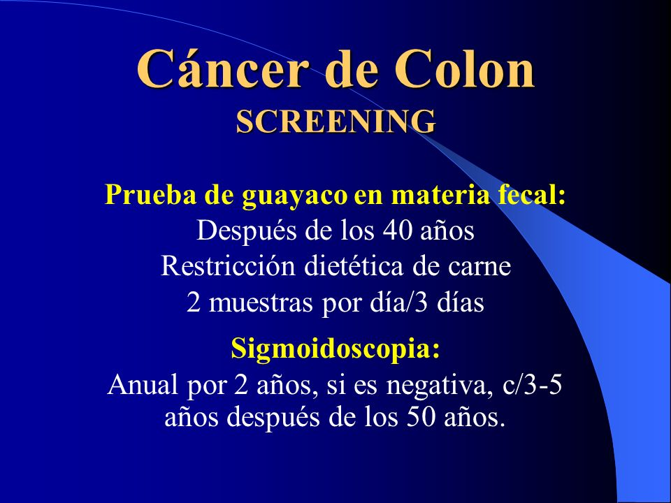 Cáncer de Colon SCREENING