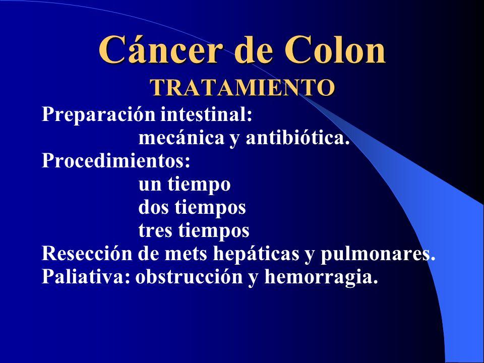 Cáncer de Colon TRATAMIENTO