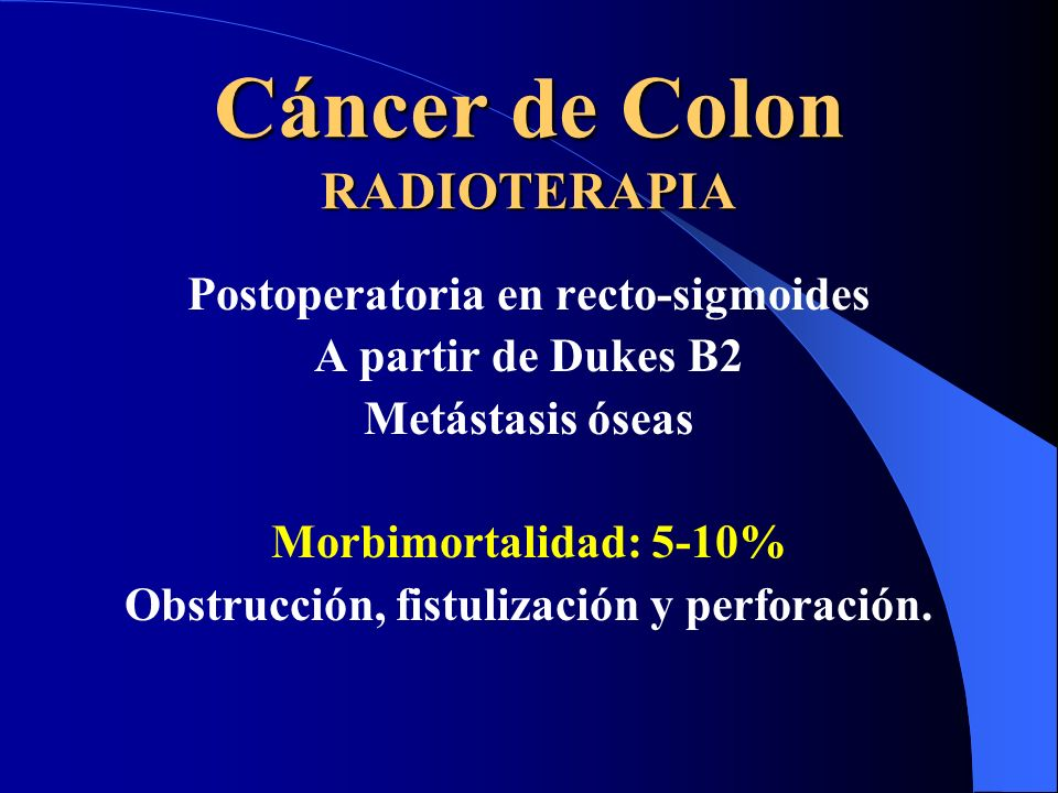 Cáncer de Colon RADIOTERAPIA