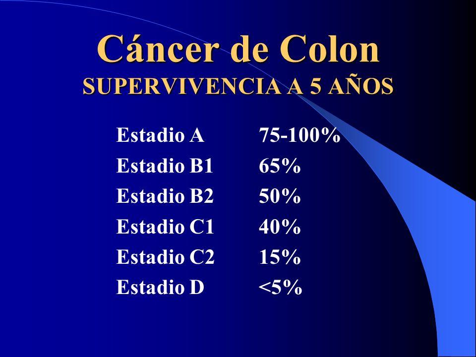 Cáncer de Colon SUPERVIVENCIA A 5 AÑOS