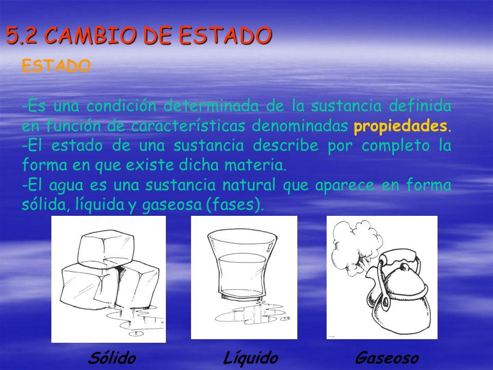 5.2 CAMBIO DE ESTADO ESTADO
