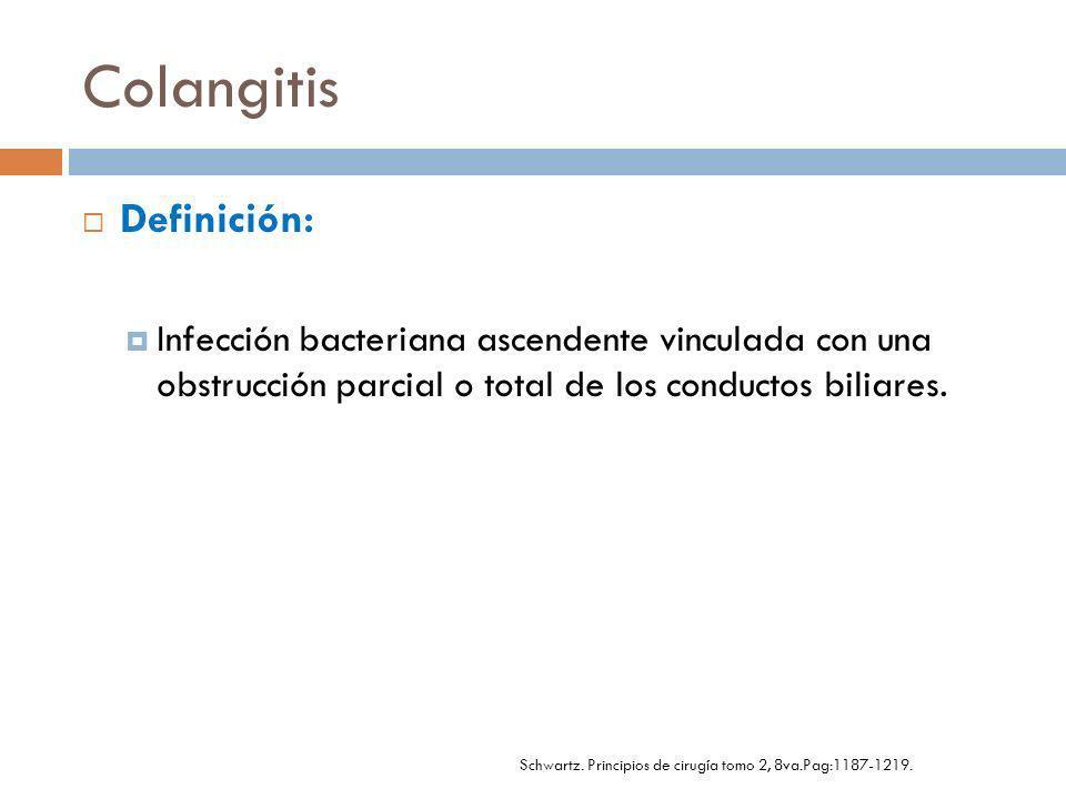 Schwartz. Principios de cirugía tomo 2, 8va.Pag:1187-1219.
