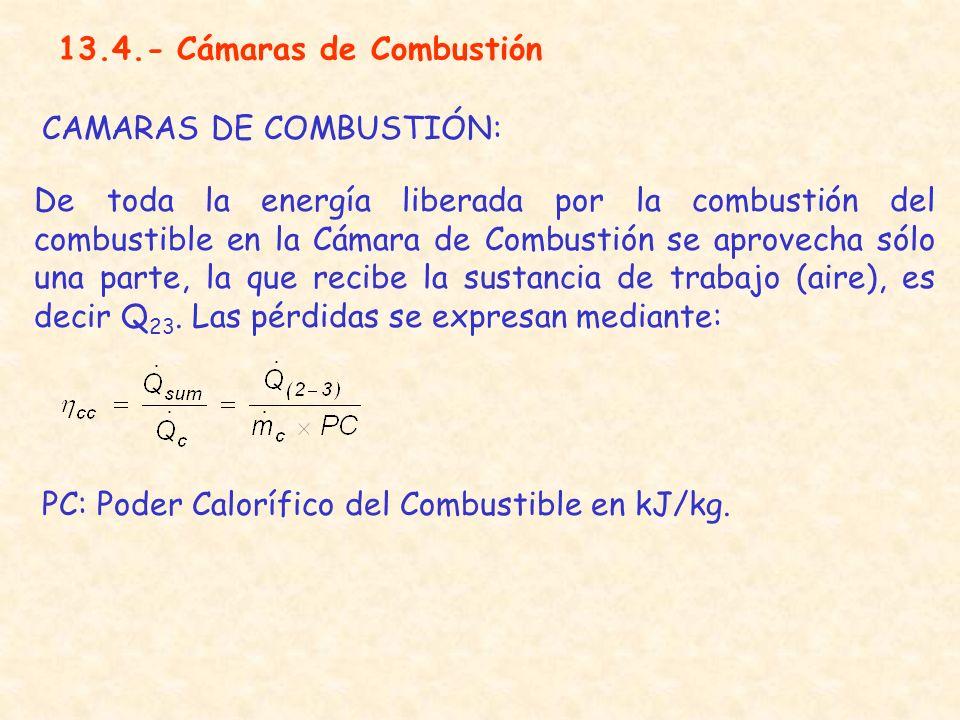 13.4.- Cámaras de Combustión