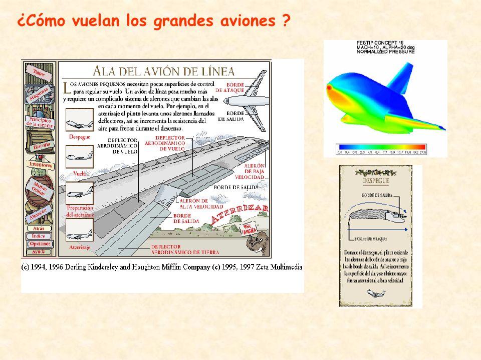 ¿Cómo vuelan los grandes aviones