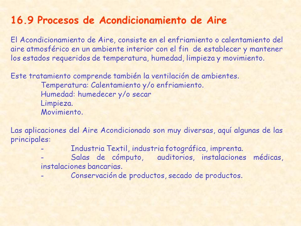 16.9 Procesos de Acondicionamiento de Aire