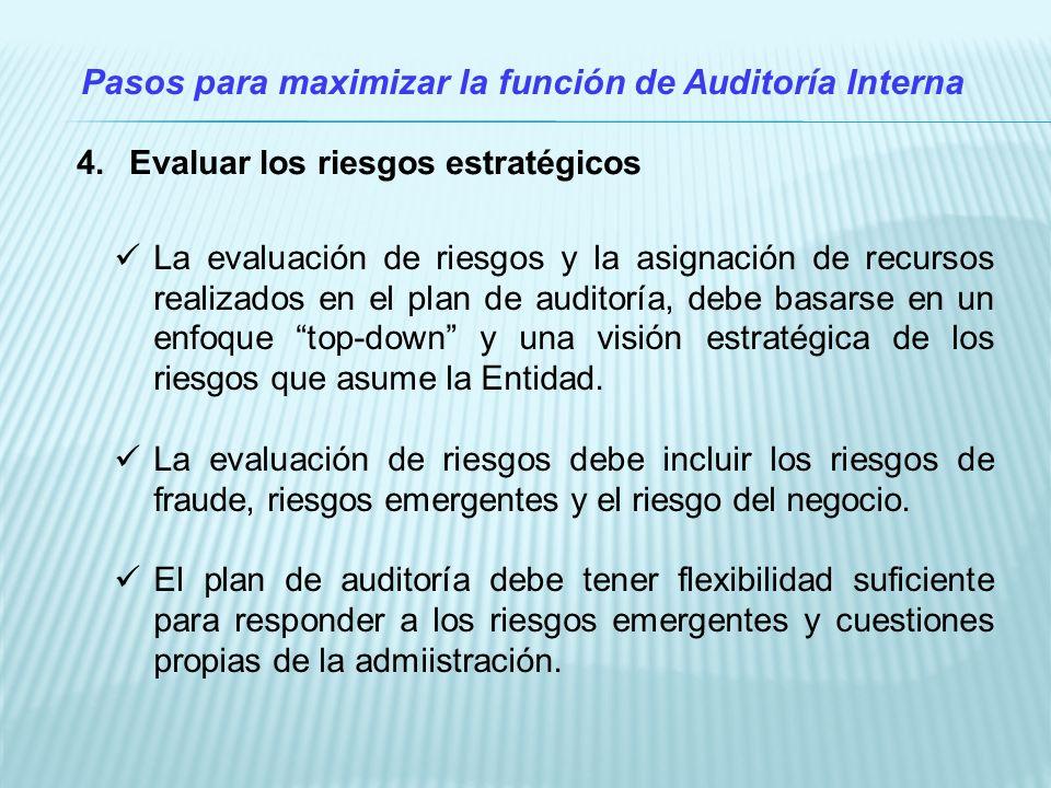 Pasos para maximizar la función de Auditoría Interna