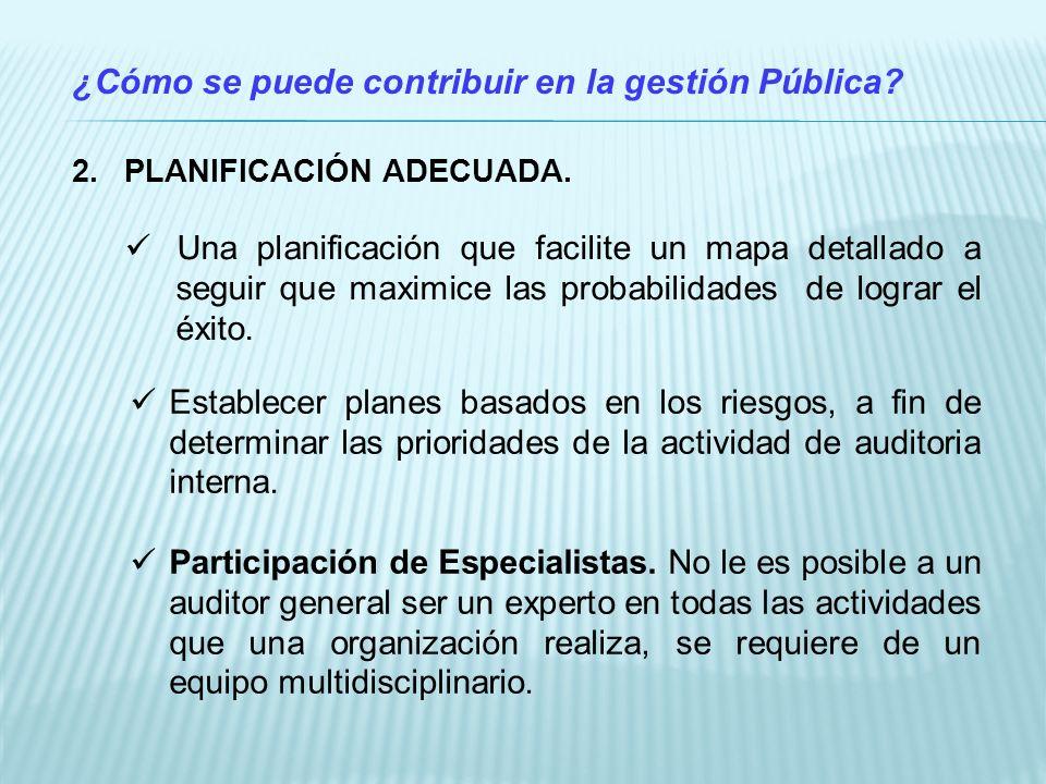 ¿Cómo se puede contribuir en la gestión Pública