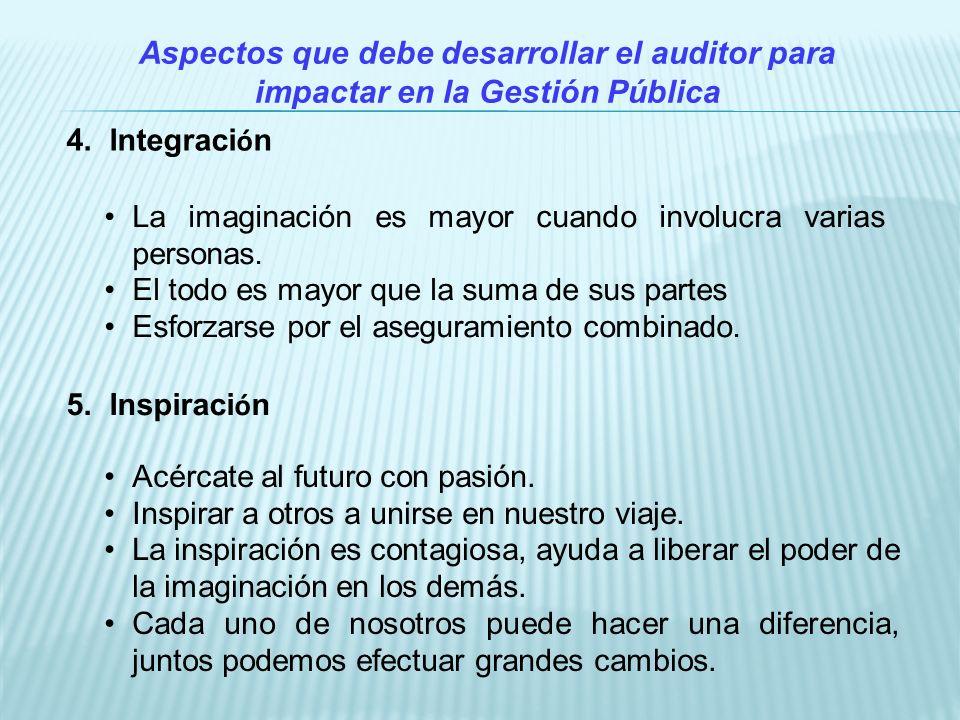 Aspectos que debe desarrollar el auditor para impactar en la Gestión Pública