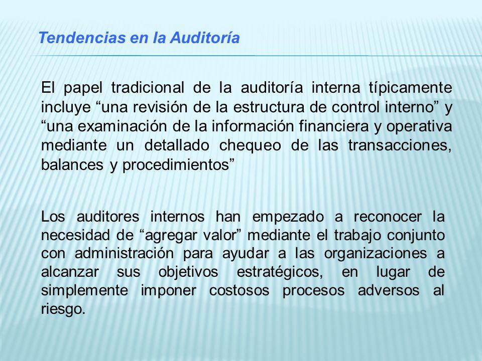 Tendencias en la Auditoría