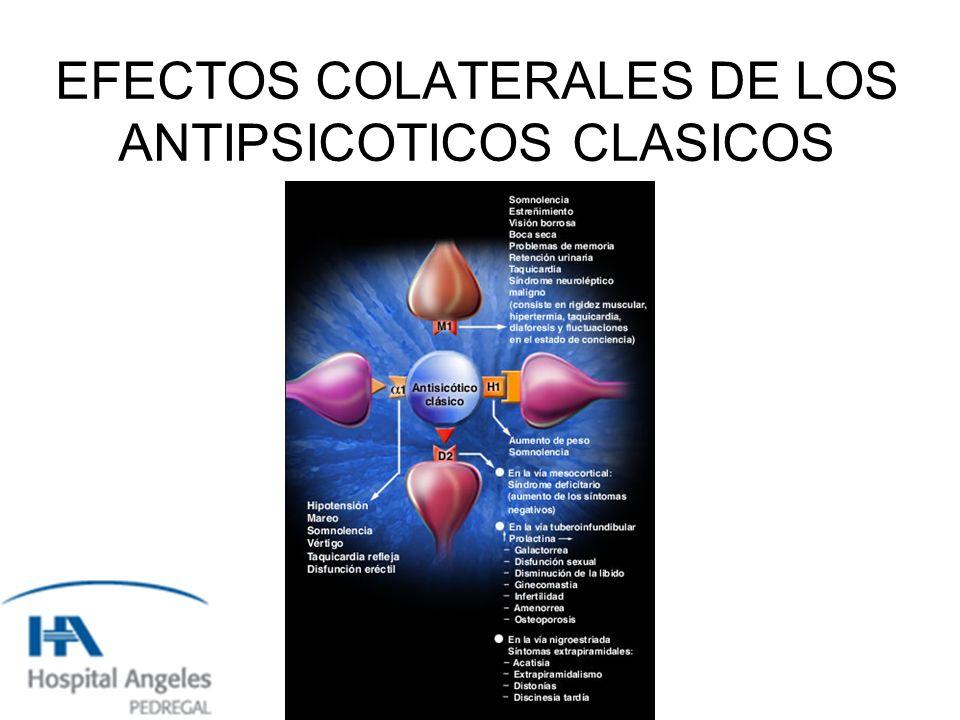 EFECTOS COLATERALES DE LOS ANTIPSICOTICOS CLASICOS