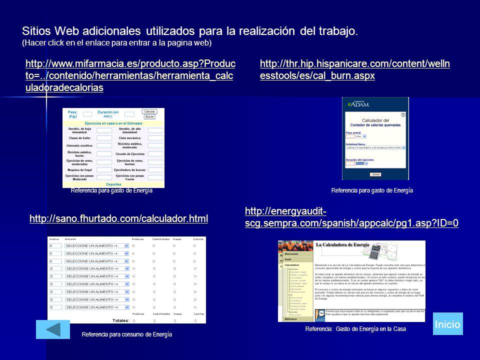 Sitios Web adicionales utilizados para la realización del trabajo