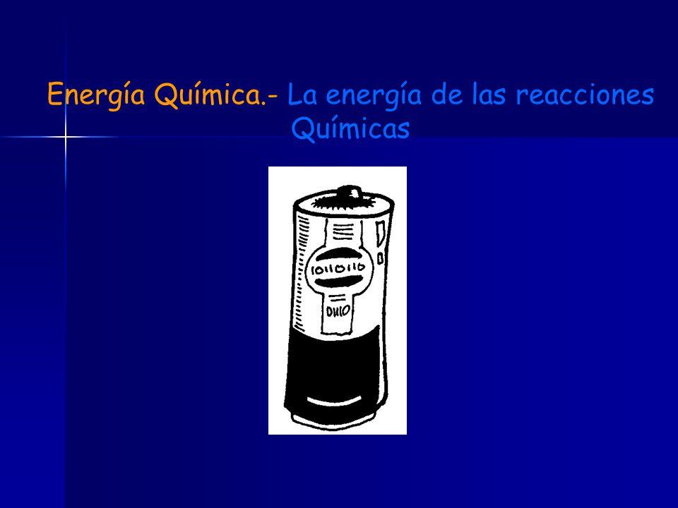 Energía Química.- La energía de las reacciones Químicas