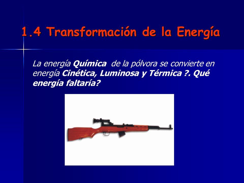 1.4 Transformación de la Energía
