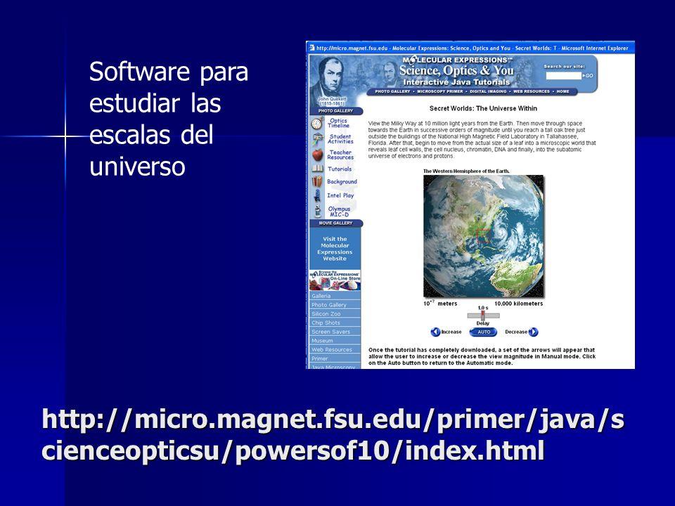 Software para estudiar las escalas del universo