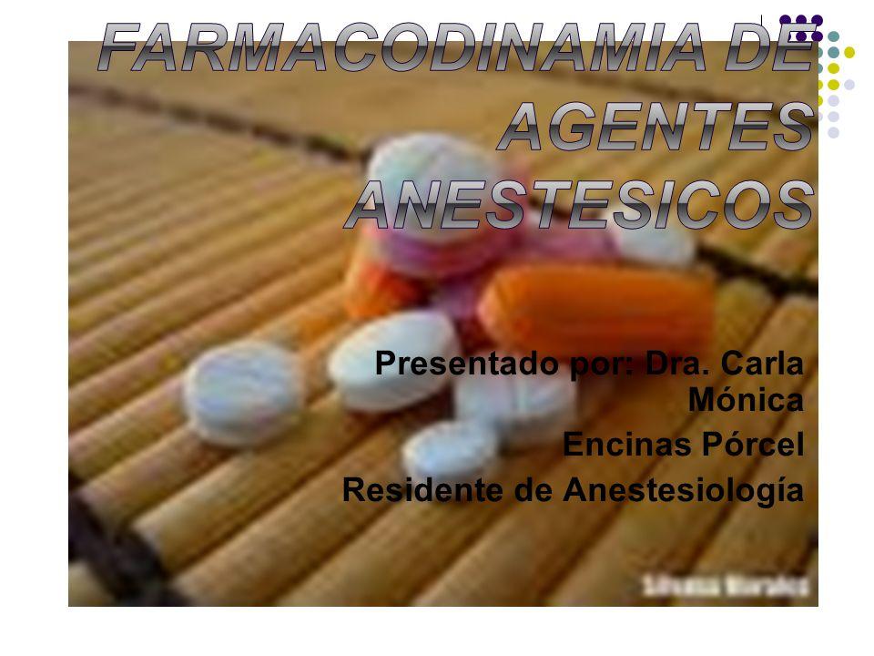 FARMACOCINETICA FARMACODINAMIA DE AGENTES ANESTESICOS