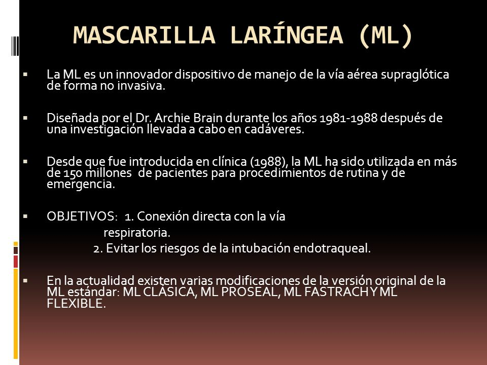 MASCARILLA LARÍNGEA (ML)