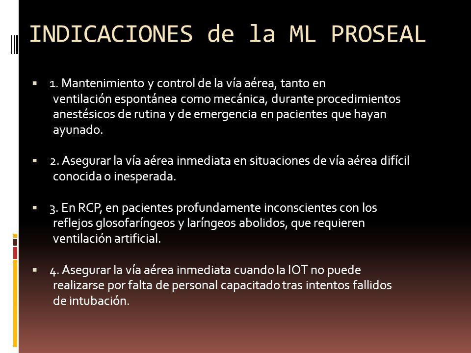 INDICACIONES de la ML PROSEAL