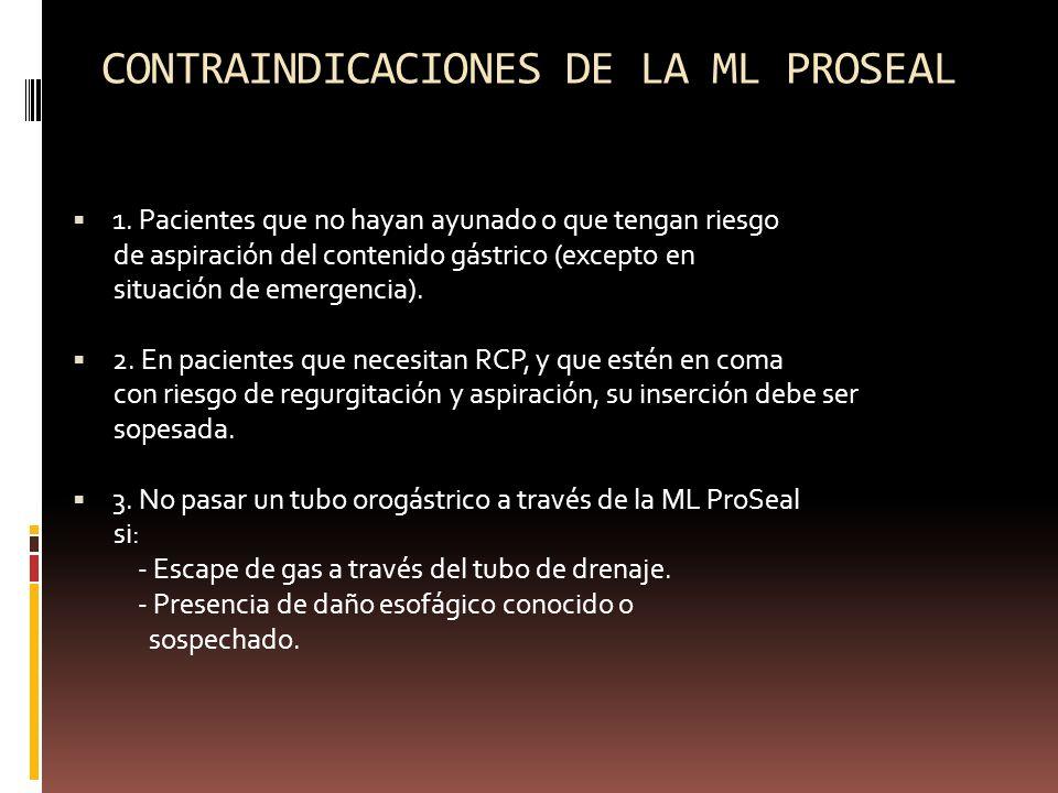 CONTRAINDICACIONES DE LA ML PROSEAL