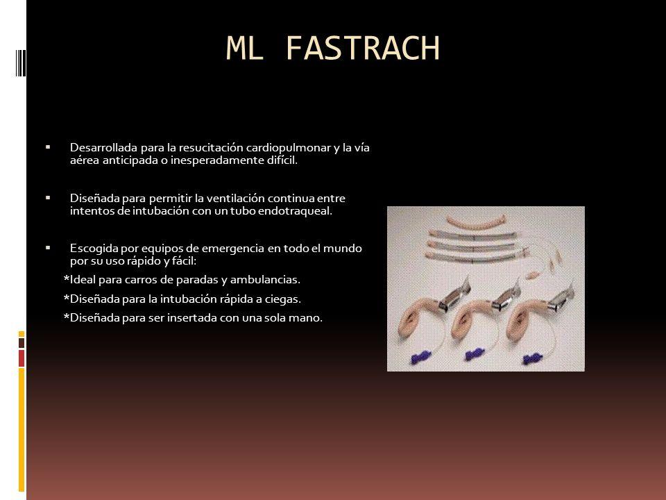 ML FASTRACHDesarrollada para la resucitación cardiopulmonar y la vía aérea anticipada o inesperadamente difícil.
