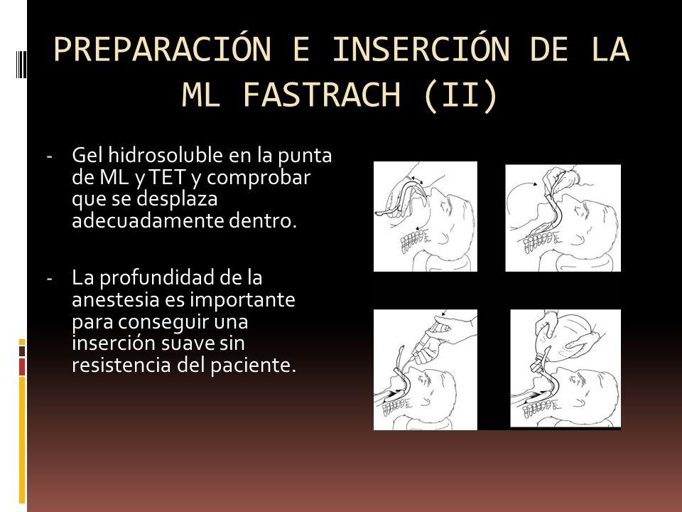 PREPARACIÓN E INSERCIÓN DE LA ML FASTRACH (II)