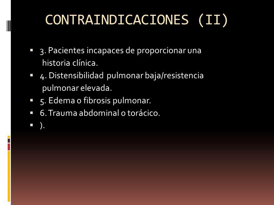 CONTRAINDICACIONES (II)
