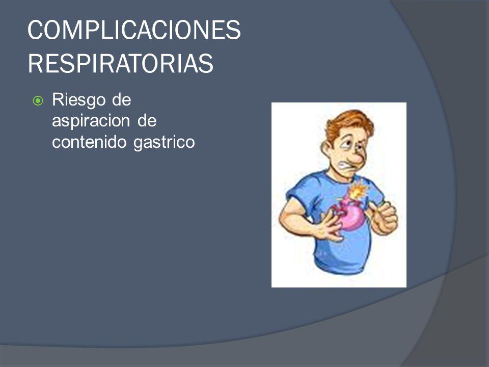 COMPLICACIONES RESPIRATORIAS