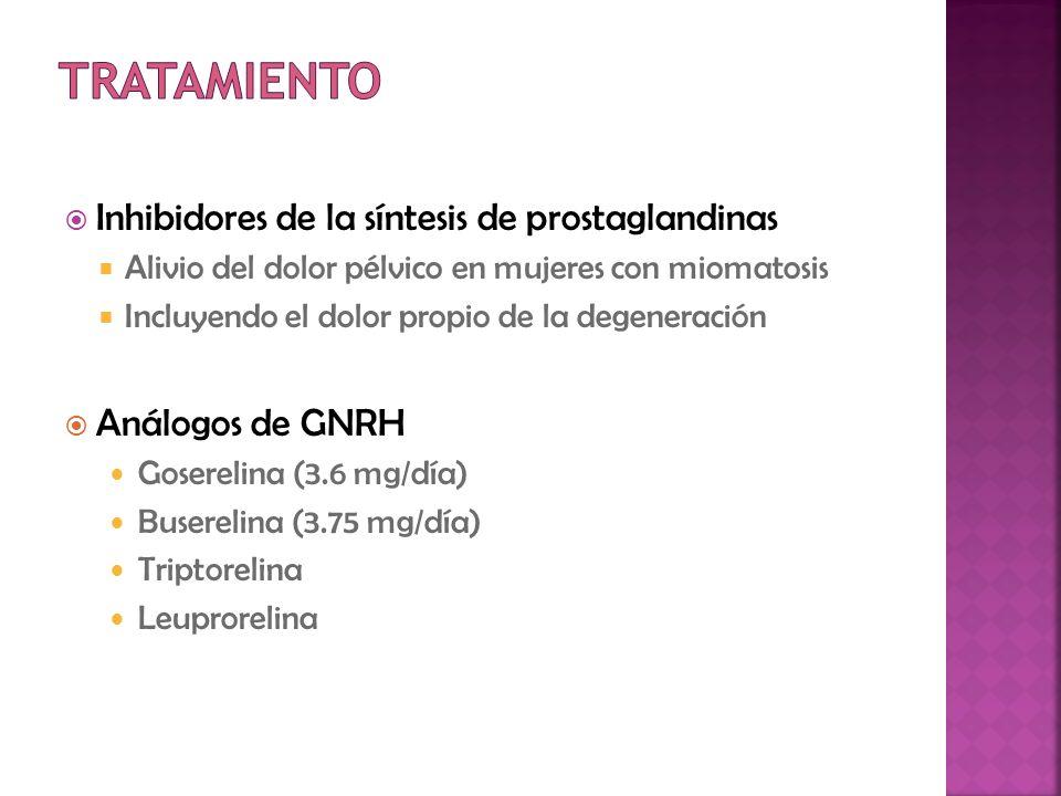 Tratamiento Inhibidores de la síntesis de prostaglandinas