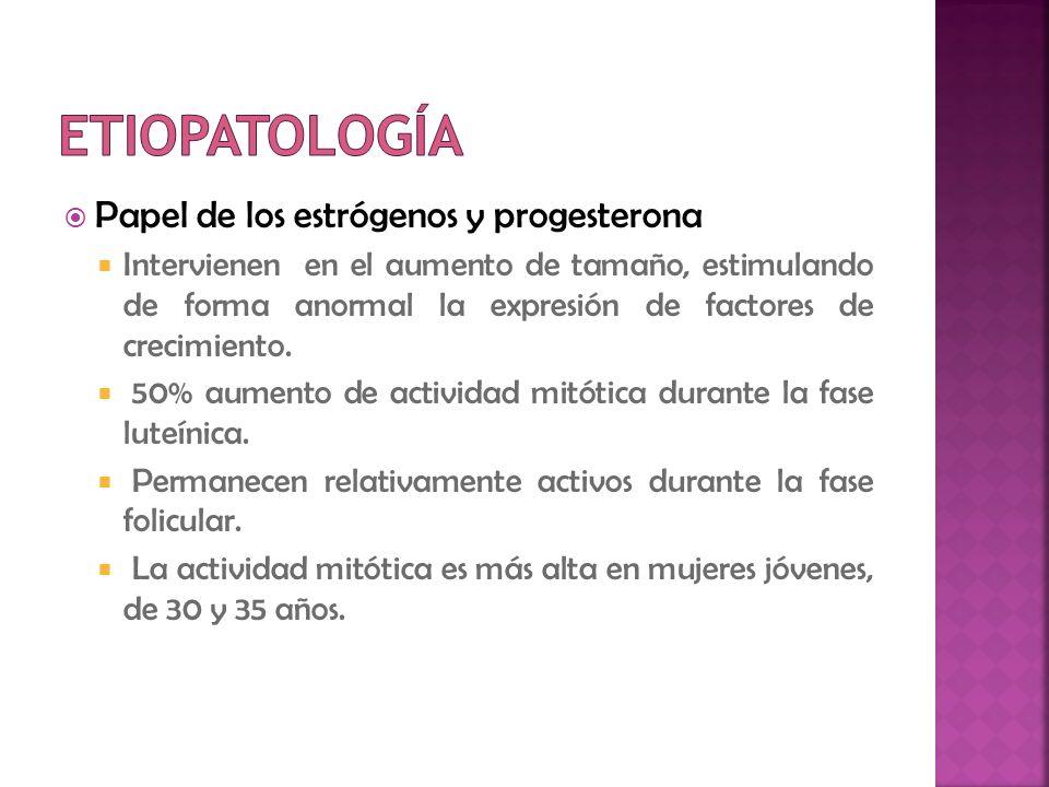 Etiopatología Papel de los estrógenos y progesterona