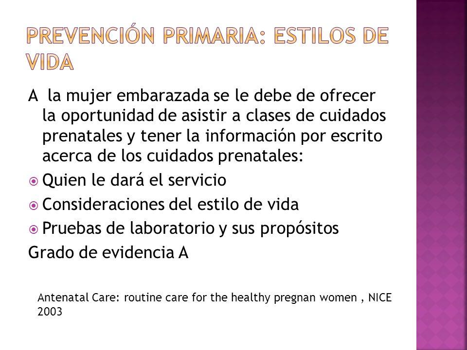 Prevención primaria: Estilos de vida