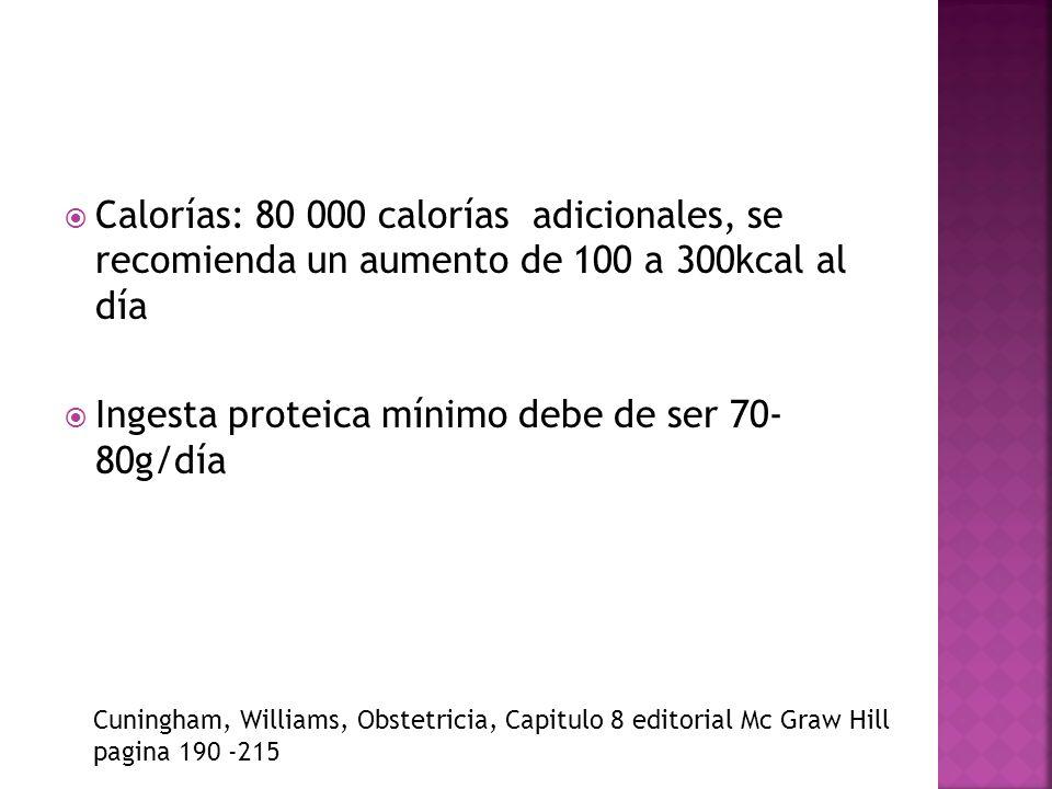Ingesta proteica mínimo debe de ser 70- 80g/día