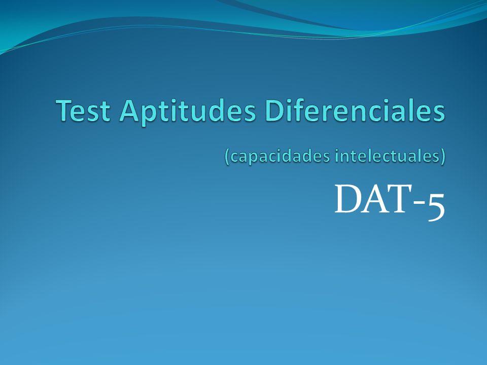 Test Aptitudes Diferenciales (capacidades intelectuales)