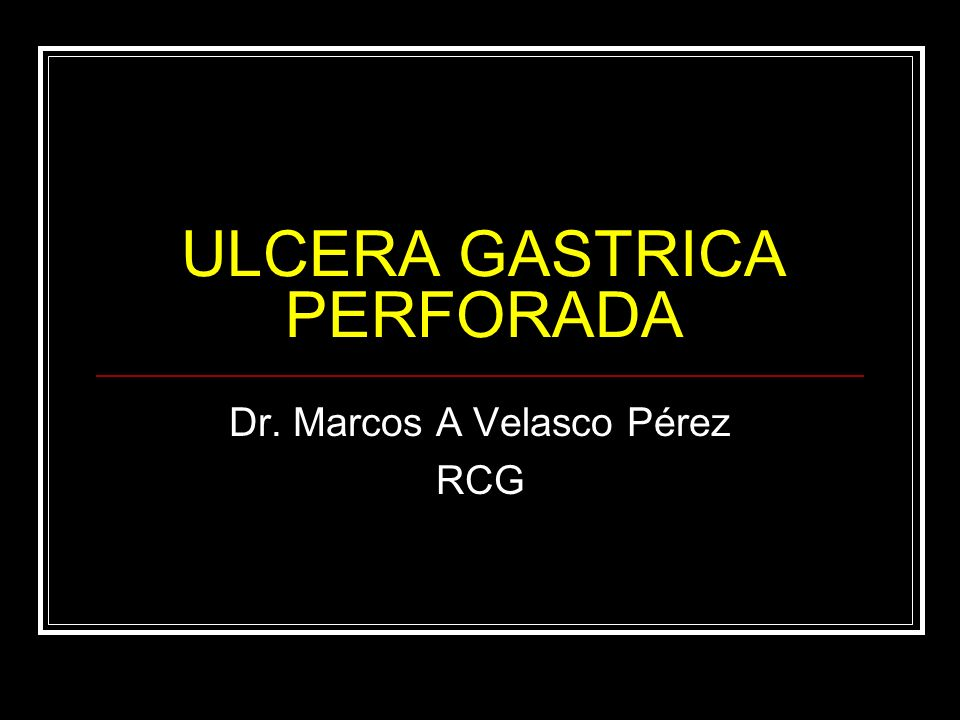 ULCERA GASTRICA PERFORADA