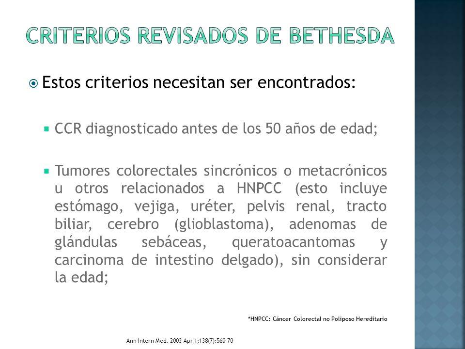 Criterios Revisados de Bethesda