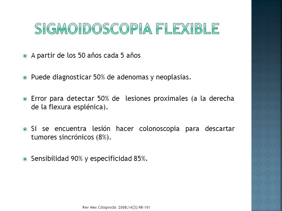 Sigmoidoscopia flexible