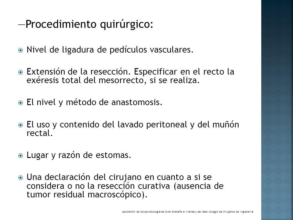 —Procedimiento quirúrgico: