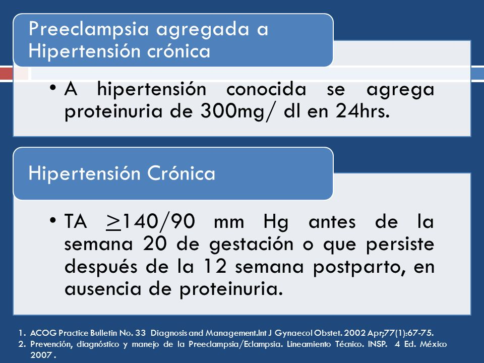 Hipertensión Crónica