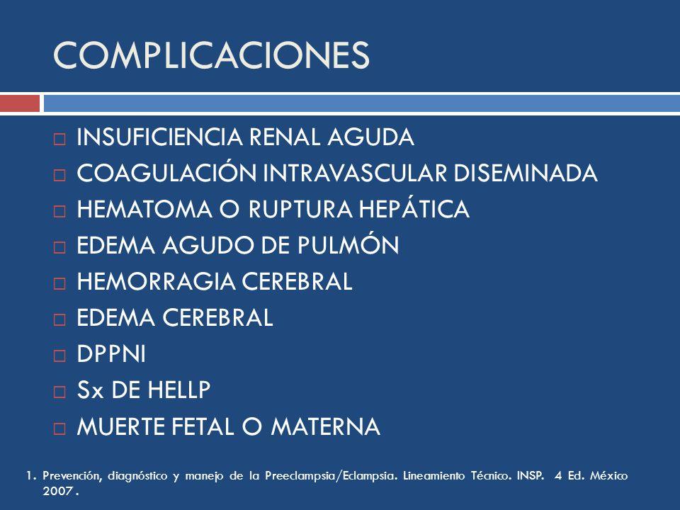 COMPLICACIONES INSUFICIENCIA RENAL AGUDA