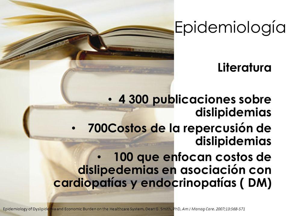 Epidemiología Literatura 4 300 publicaciones sobre dislipidemias