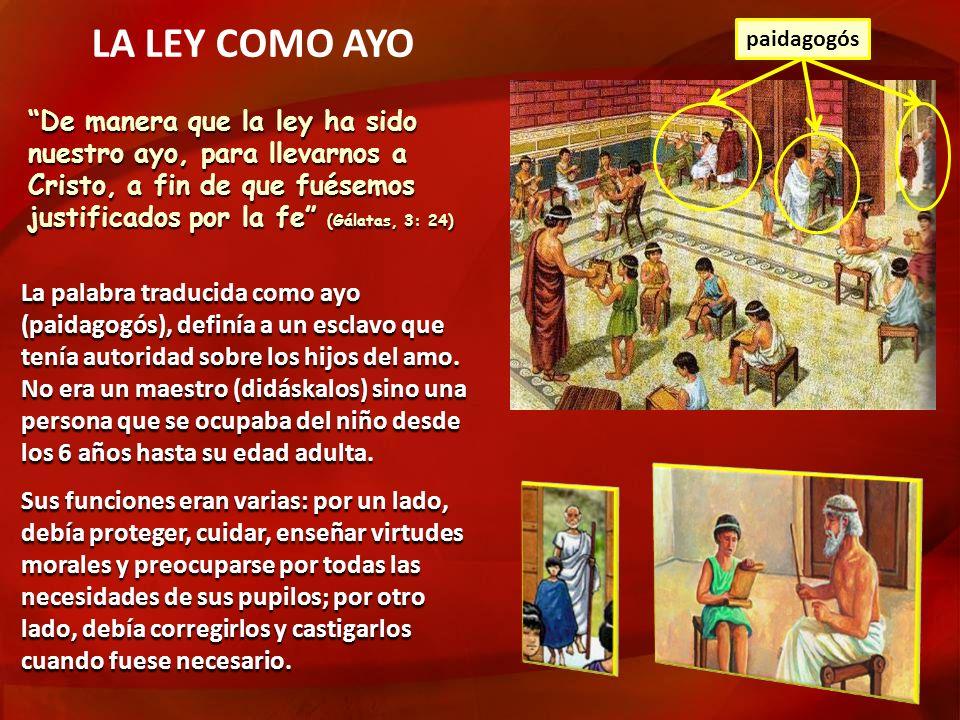 LA LEY COMO AYOpaidagogós.