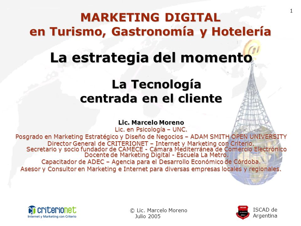 MARKETING DIGITAL en Turismo, Gastronomía y Hotelería