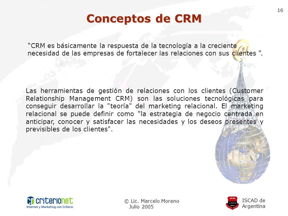 16 Conceptos de CRM.