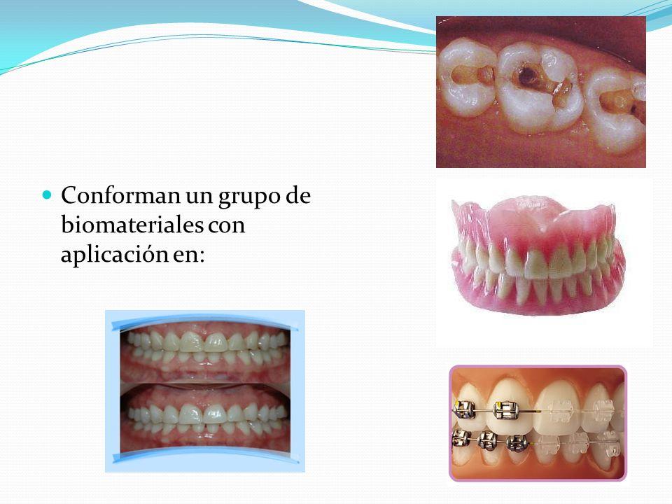 Conforman un grupo de biomateriales con aplicación en: